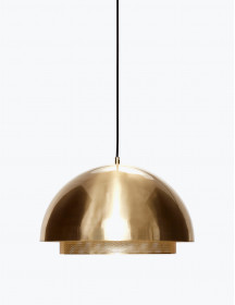 Gold-Toned Solid Ceiling Lamp
