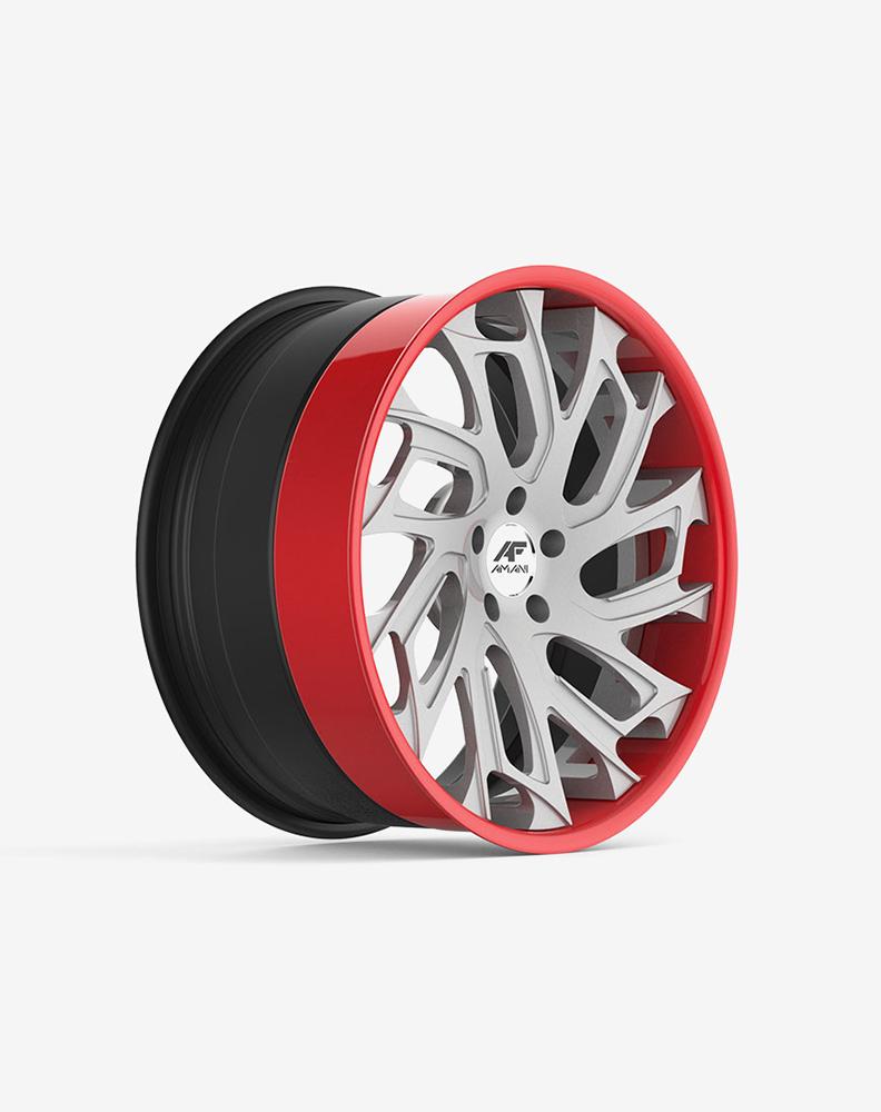 Alloy wheel 14″/4 holes/pcd-100/Et-22 – machined black